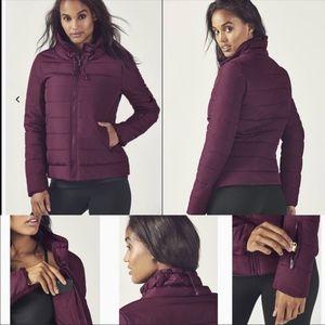 Fabletics Misha Purple Puffer Jacket Size Large